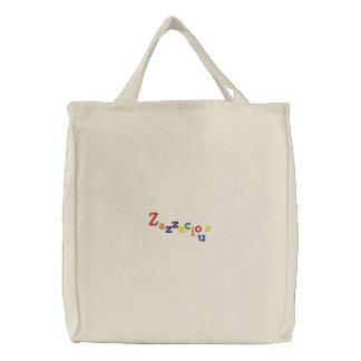 Zazzacious Rainbow Bag Embroidered Tote Bag
