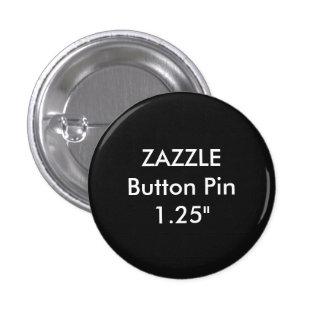 "Zazzle Blank Custom 1 1/4"" Button Pin BLACK"