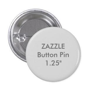 "Zazzle Blank Custom 1 1/4"" Button Pin LIGHT GRAY"