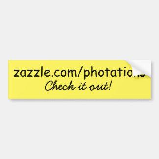 Zazzle bumper sticker