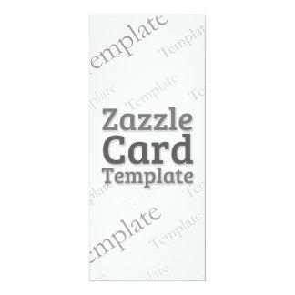Zazzle Card Custom Template Basic White Invitation