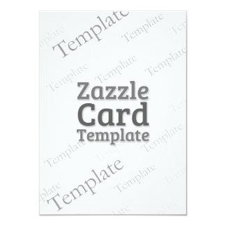 Zazzle Card Custom Template Basic White Invite