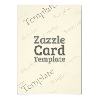 Zazzle Card Custom Template Felt Cream Invite