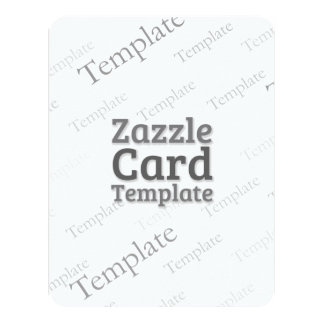 Zazzle Card Custom Template Grooved White Invite