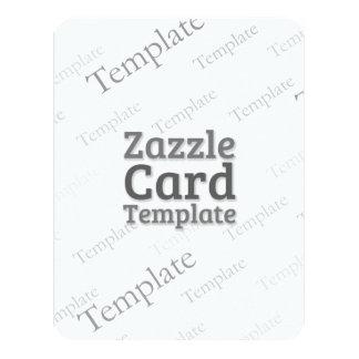 Zazzle Card Custom Template Grooved White Invite