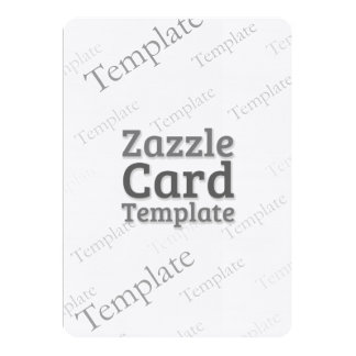 Zazzle Card Custom Template Linen Bright Invite