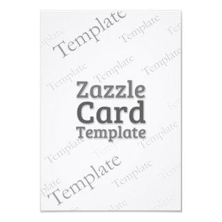Zazzle Card Custom Template Linen White Invitation