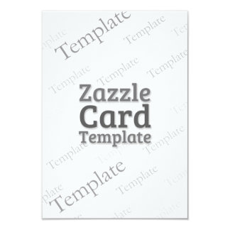 Zazzle Card Custom Template Recycled White Invite