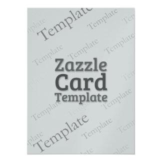 Zazzle Card Custom Template Silver Invitation