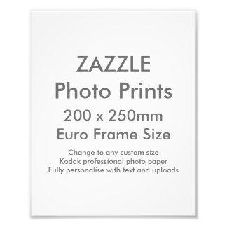 Zazzle Custom 200x 250mm Photo Print UK Frame Size