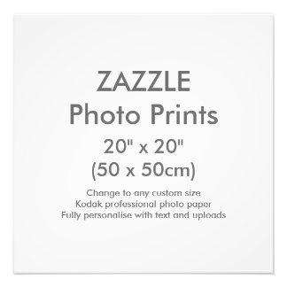"Zazzle Custom 20"" x 20"" Photo Print Template"