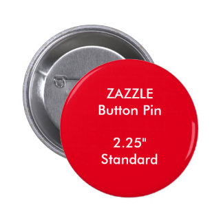 "ZAZZLE Custom 2.25"" Standard Round Button Pin RED"