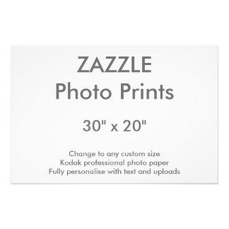 """Zazzle Custom 30"""" x 20"""" Photo Print 76 x 51 cm"""