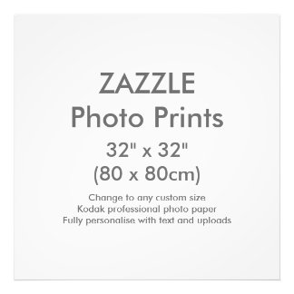 "Zazzle Custom 32"" x 32"" Photo Print Template"