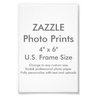 """Zazzle Custom 4"""" x 6"""" Photo Print (US Frame Size)"""