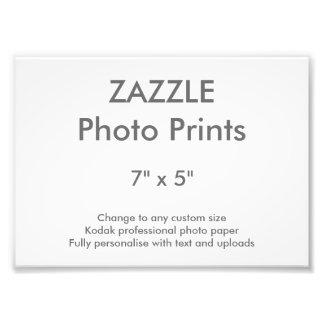 """Zazzle Custom 7"""" x 5"""" Photo Print 18 x 13 cm"""