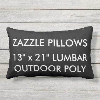 Zazzle Custom BLACK Outdoor Lumbar Pillow Template