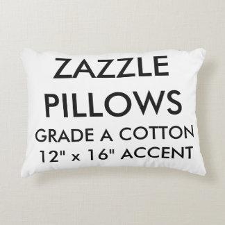 Zazzle Custom Cotton Accent Pillow Blank Template