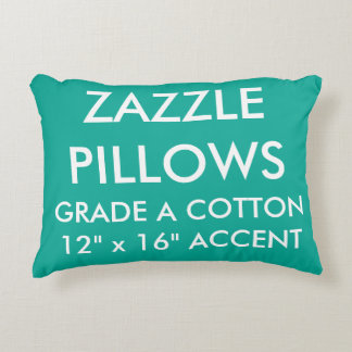 Zazzle Custom GREEN Cotton Accent Pillow Template