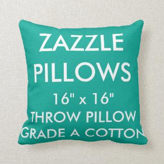 Zazzle Custom GREEN Grade A Cotton Throw Pillow