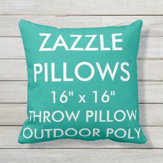 Zazzle Custom GREEN Outdoor Throw Pillow Template