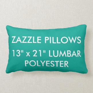 Zazzle Custom GREEN Polyester Lumbar Pillow