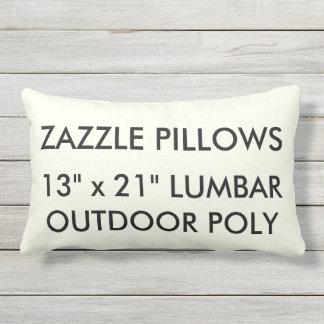 Zazzle Custom IVORY Outdoor Lumbar Pillow Template
