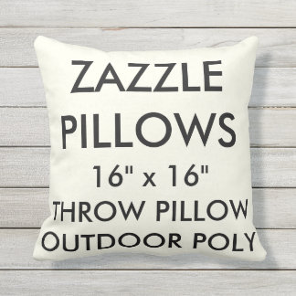 Zazzle Custom IVORY Outdoor Throw Pillow Template