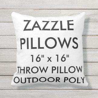 Zazzle Custom Outdoor Throw Pillow Blank Template