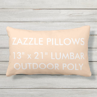 Zazzle Custom PEACH Outdoor Lumbar Pillow Template