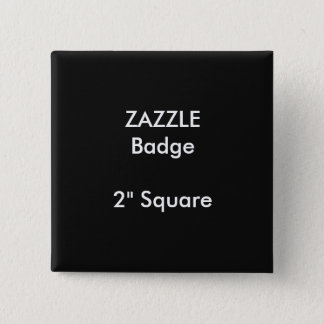 "ZAZZLE Custom Printed 2"" Square Badge BLACK"