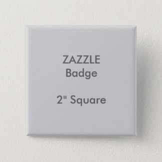 "ZAZZLE Custom Printed 2"" Square Badge GREY"