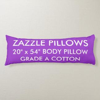 Zazzle Custom PURPLE Grade A Cotton Body Pillow