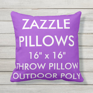 Zazzle Custom PURPLE Outdoor Throw Pillow Template