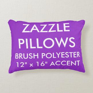 Zazzle Custom PURPLE Polyester Accent Pillow