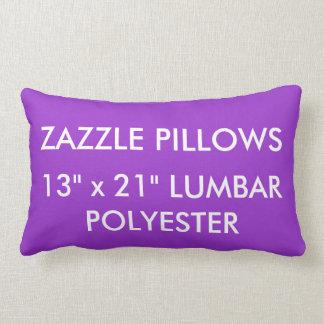 Zazzle Custom PURPLE Polyester Lumbar Pillow