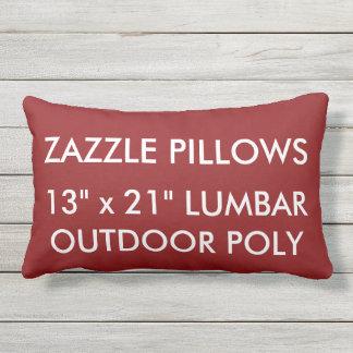 Zazzle Custom RED Outdoor Lumbar Pillow Template