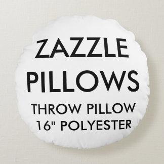 Zazzle Custom Round Polyester Throw Pillow