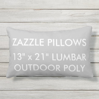 Zazzle Custom SILVER Outdoor Lumbar Pillow