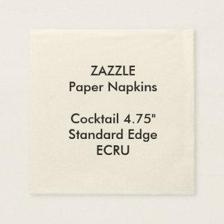 ZAZZLE Custom Small ECRU Cocktail Paper Napkins
