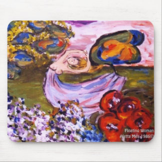 zazzle floating woman mouse pad