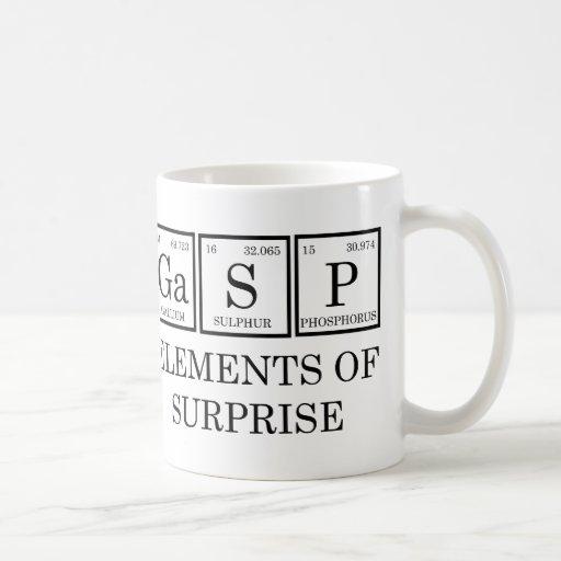 zazzle gasp surprise elements coffee mugs