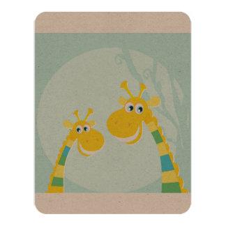 Zazzle invitation with Giraffe : Environment paper