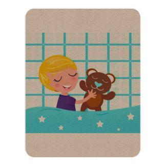 Zazzle invitation with Kid with teddy