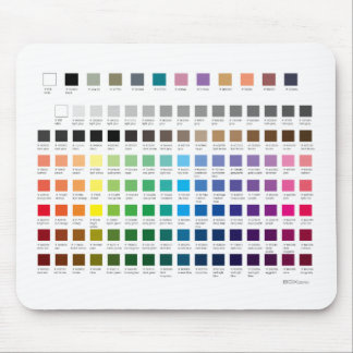 ZAZZLE PALETTE | with hex codes Mouse Pad