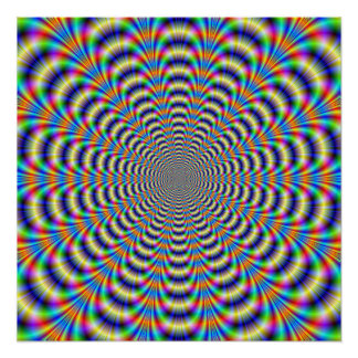 Zazzle Perfect Poster   Psychedelic Ringed Pulse