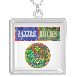ZAZZLE ROCKS - Nacklace for Zazzle Sellers Square Pendant Necklace