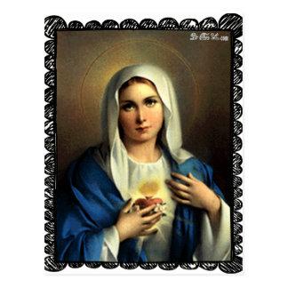 ZAZZLE SACRED HEART OF MARY 09 CUSTOMIZABLE PRODUC POSTCARD