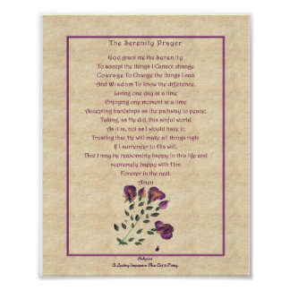 zazzle Serenety Prayer Poster