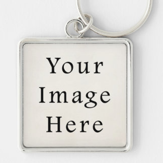 Zazzle Top 100 Vintage Paper Blank Template Silver-Colored Square Key Ring